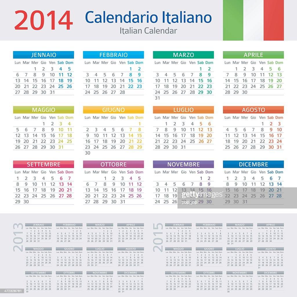 Italian Calendar / Calendario Italiano 2014