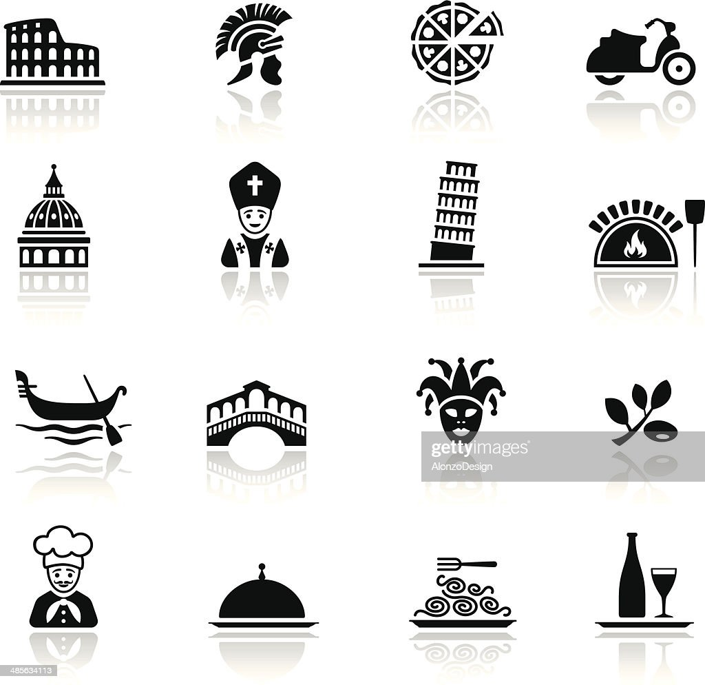 Italian Culture Icon Set : stock illustration