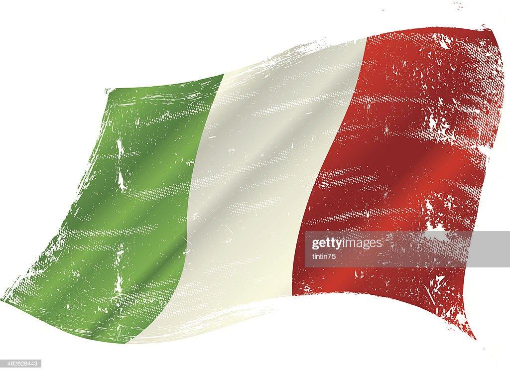 Italian flag grunge