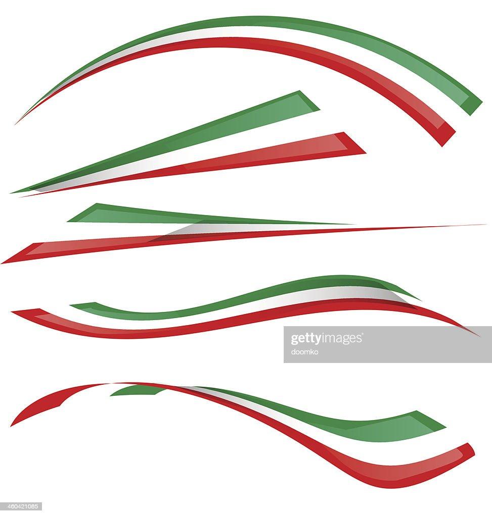 italian flag set