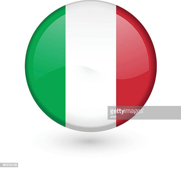 Italian flag vector button