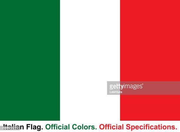 illustrazioni stock, clip art, cartoni animati e icone di tendenza di italian flag (official colors, official specifications) - bandiera