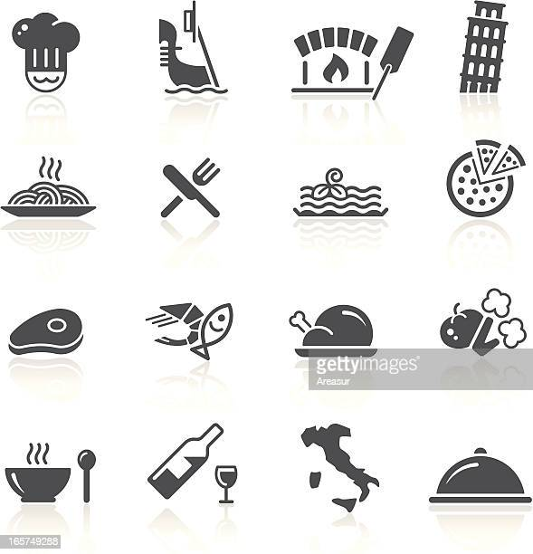 italian food & restaurant - italy stock illustrations