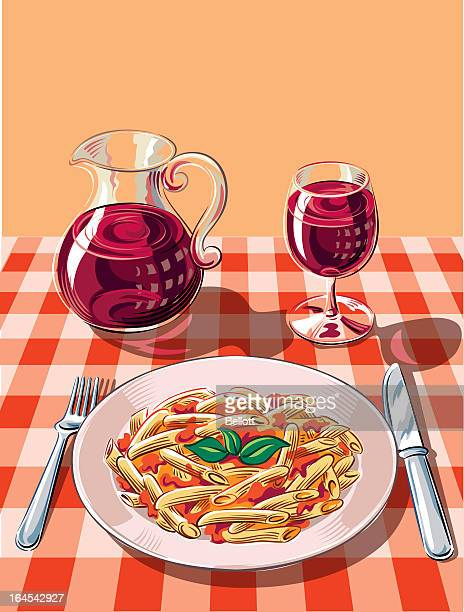 italian food - red wine stock illustrations, clip art, cartoons, & icons