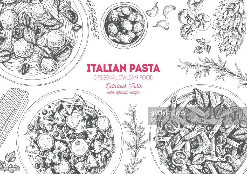 Italian pasta frame.