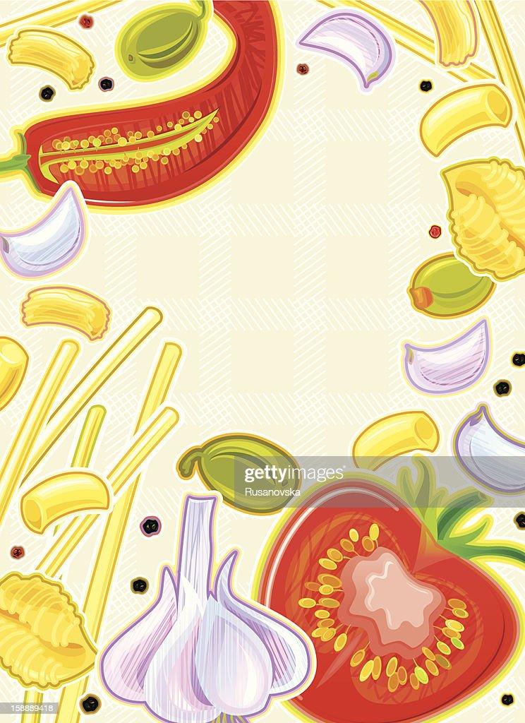 Menú de Pasta italiana : Arte vectorial