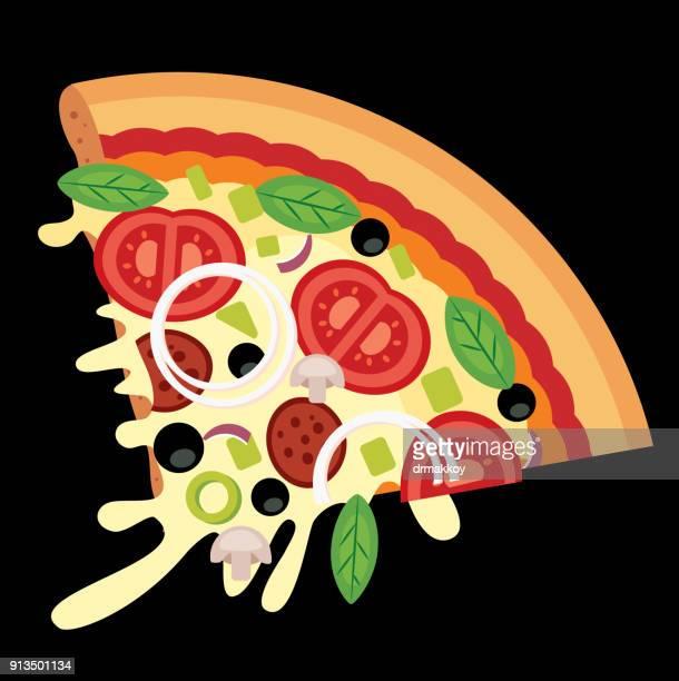 ilustrações de stock, clip art, desenhos animados e ícones de italian pizza - pizzaria