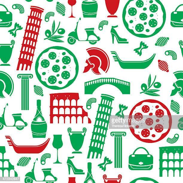 ilustrações, clipart, desenhos animados e ícones de italiana do padrão de repetição - cultura italiana