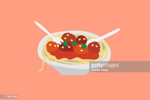 ilustrações, clipart, desenhos animados e ícones de ilustração bolonhesa da massa do almôndega do espaguete italiano - cultura italiana