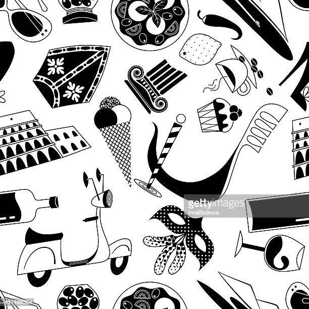 Italienischen Symbole Muster.