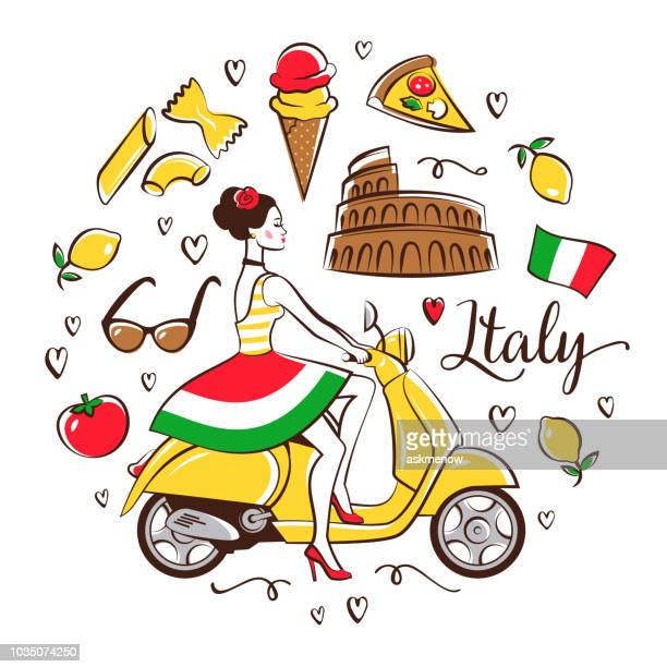 italian symbols - italy stock illustrations