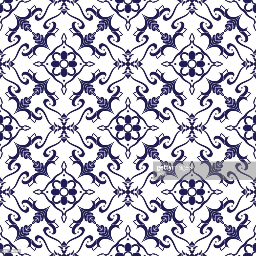 Italian tile pattern vector