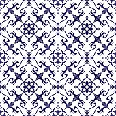 Italian tile pattern vector