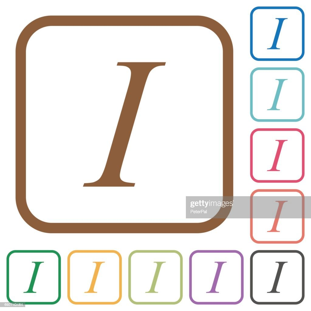 Italic font type simple icons