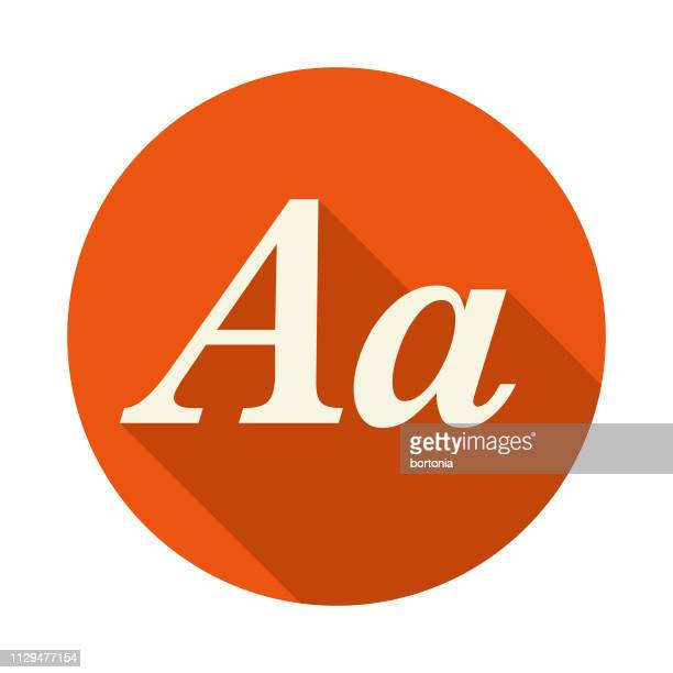 italics typography icon - letter a stock illustrations