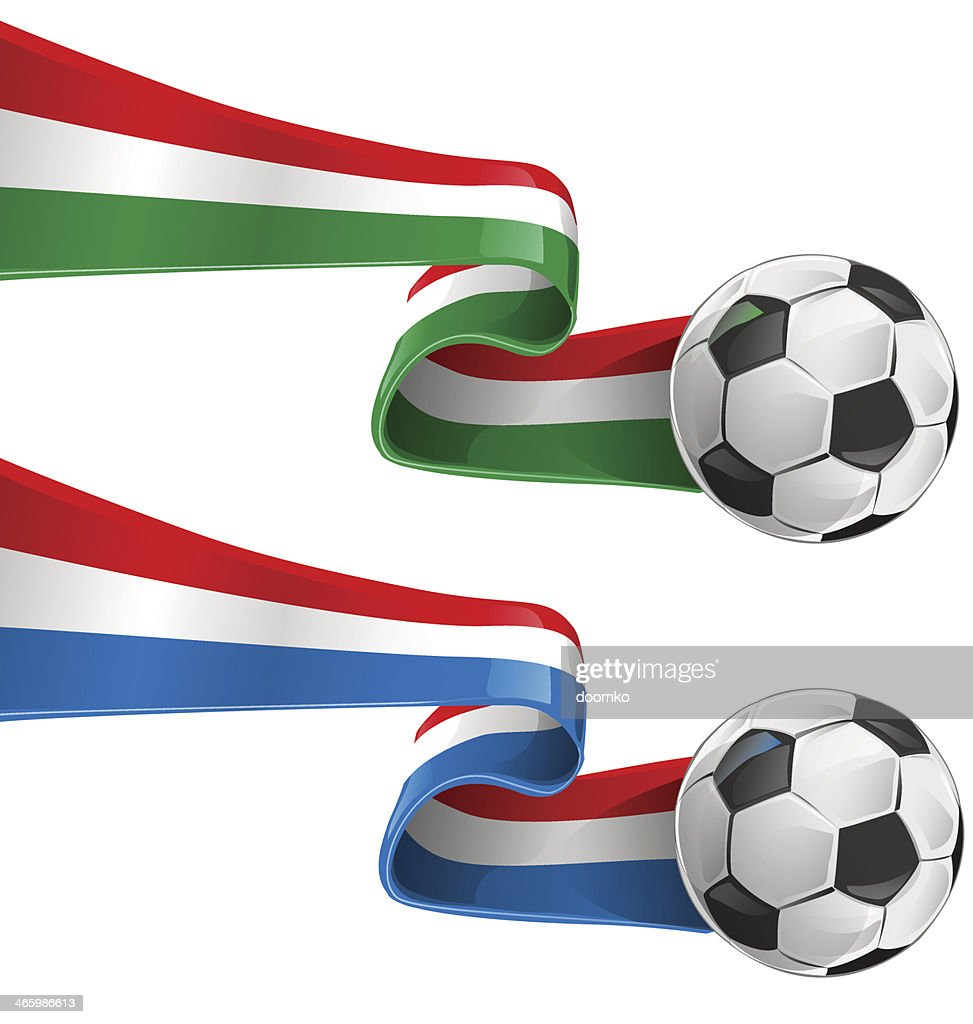italy and france flag with soccer ball