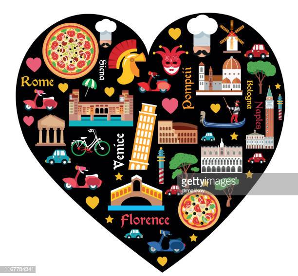 italy and love - republic of san marino stock illustrations