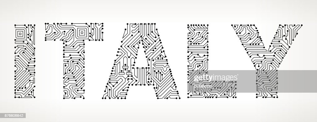 Italy Circuit Board Vector Buttons Vector Art | Getty Images