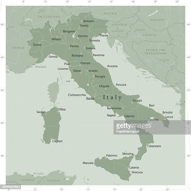 italy country vector map olive green - milan stock illustrations, clip art, cartoons, & icons