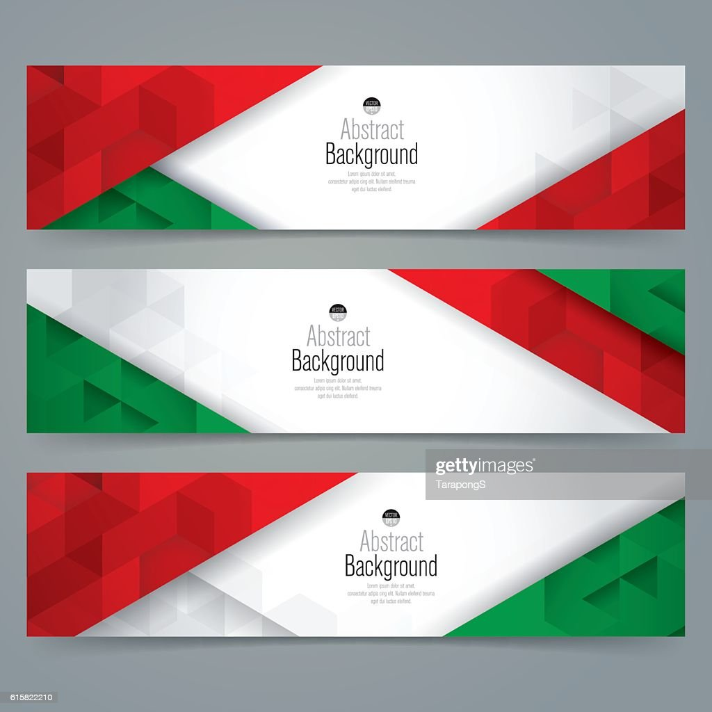 Italy flag colors background banner.