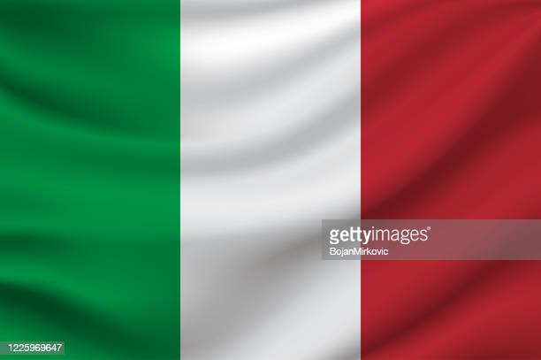 italy flag. vector - italian flag stock illustrations