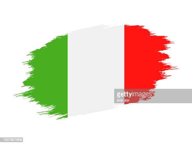 Italy - Grunge Flag Vector Flat Icon