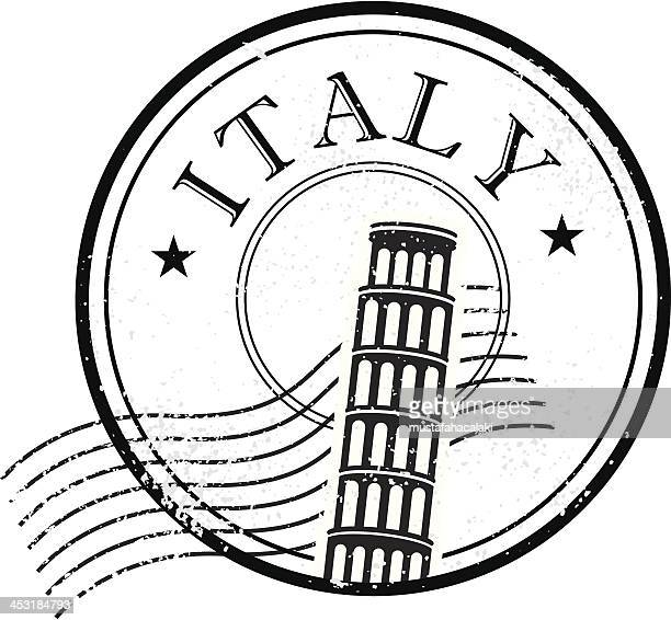 italy grunge stamp - tuscany stock illustrations, clip art, cartoons, & icons