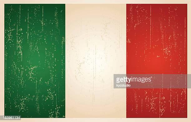 italy grunge vintage flag - italian flag stock illustrations