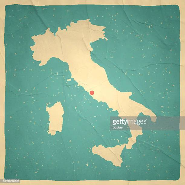 italy map on old paper - vintage texture - italy stock illustrations