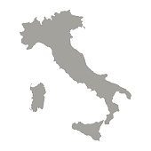 Italy map silhouette. Vector