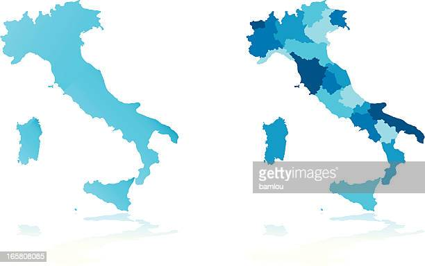 italy map - italy stock illustrations