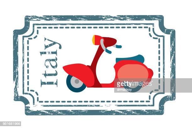 italy motorbike - milan stock illustrations, clip art, cartoons, & icons
