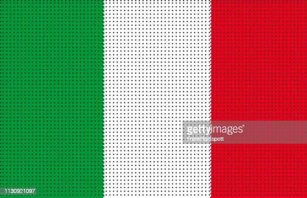 Italien pixelte Vektorflagge