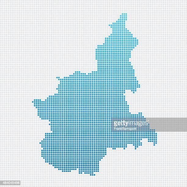 イタリアの地域のマップ piemonte ブルーの水玉模様 - イタリア ピエモンテ州点のイラスト素材/クリップアート素材/マンガ素材/アイコン素材