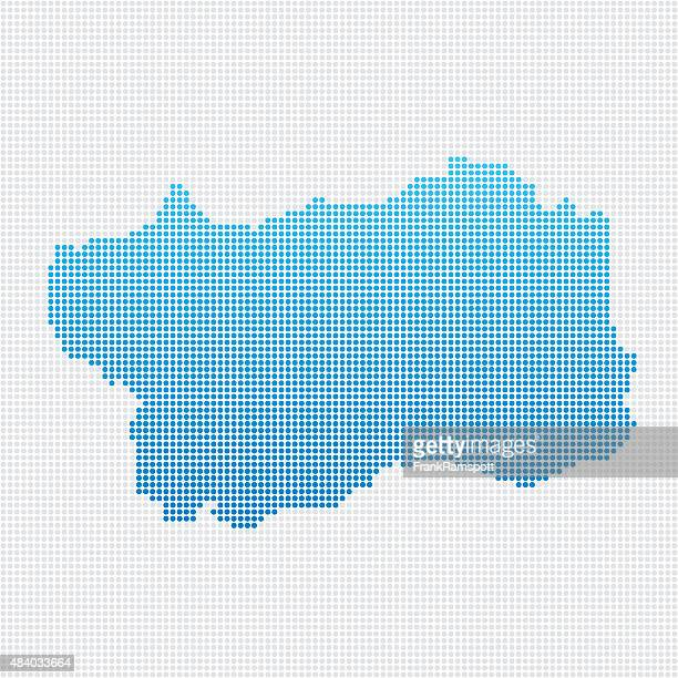 italy regions valle d'aosta map blue dot pattern - valle d'aosta stock illustrations, clip art, cartoons, & icons
