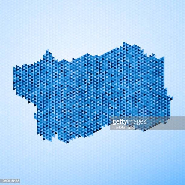 italy regions valle d'aosta map triangle pattern blue - valle d'aosta stock illustrations, clip art, cartoons, & icons