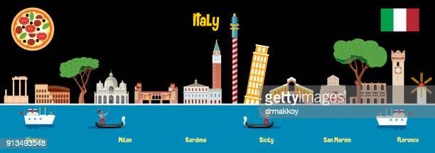 italy skyline - milan stock illustrations, clip art, cartoons, & icons