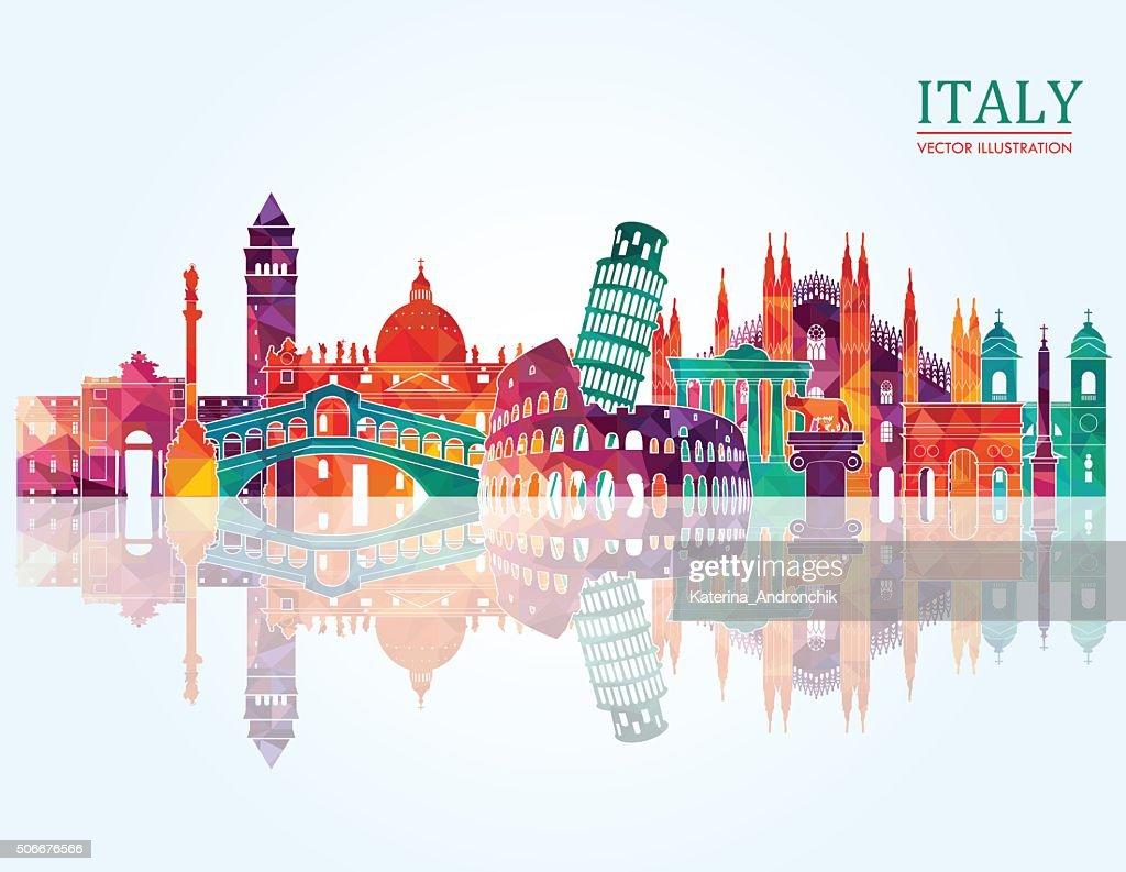 Italy skyline. Vector illustration
