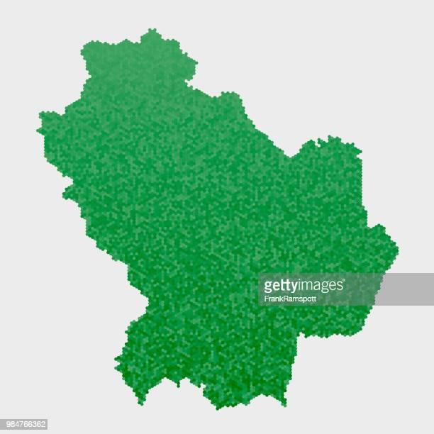 イタリア州バジリカータ地図緑の六角形パターン - バシリカータ点のイラスト素材/クリップアート素材/マンガ素材/アイコン素材