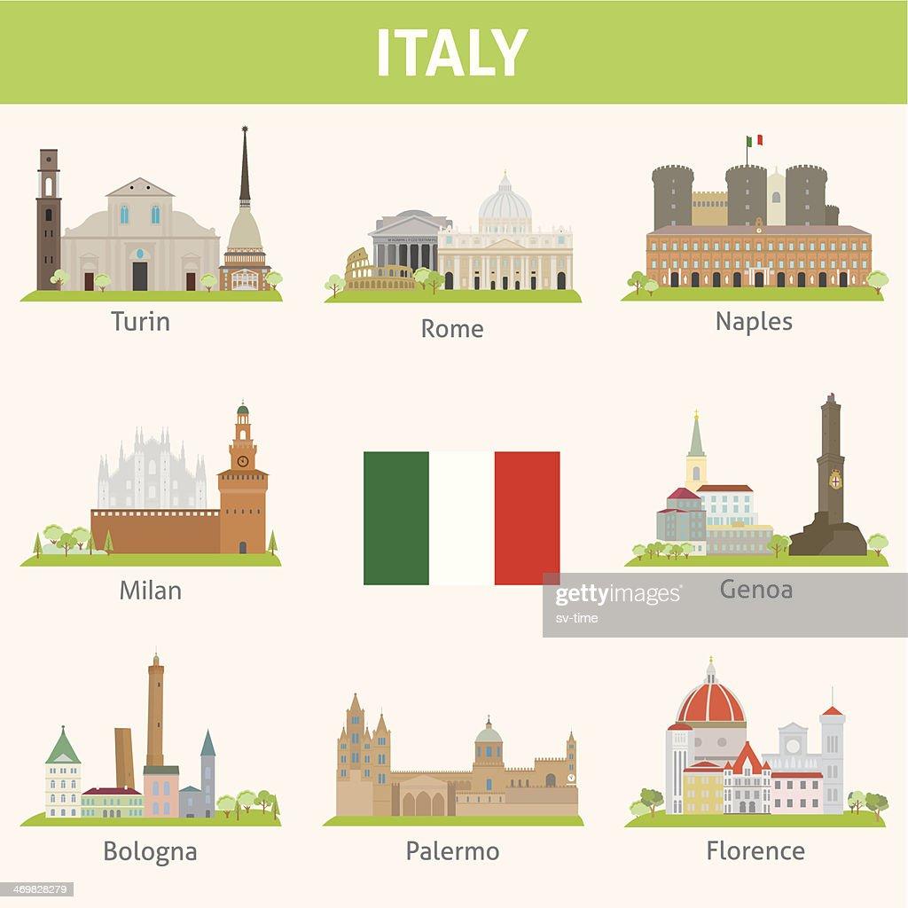 Italy. Symbols of cities