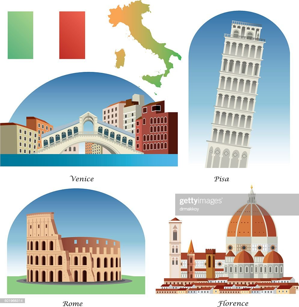 Italy Symbols : stock illustration