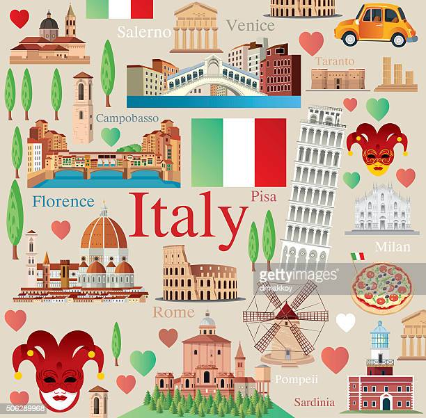 italy symbols - milan stock illustrations, clip art, cartoons, & icons