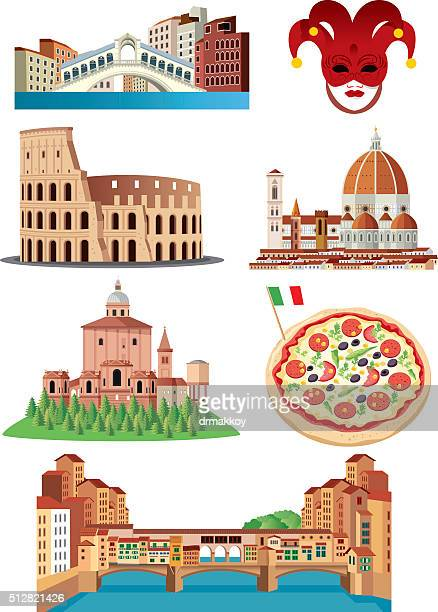italy symbols - bologna stock illustrations, clip art, cartoons, & icons