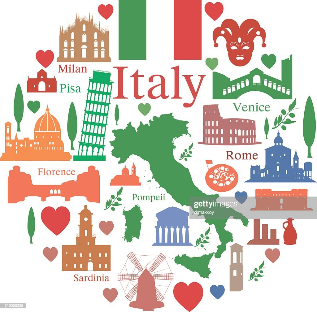 Italy Symbols Vector Art Getty Images