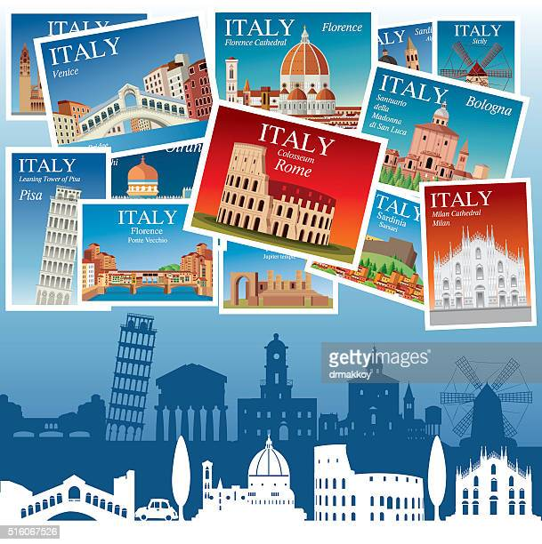italy travel - milan stock illustrations, clip art, cartoons, & icons