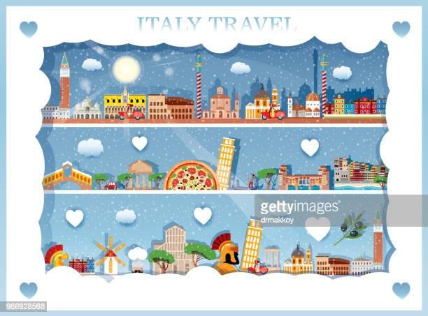 italy travel - valle d'aosta stock illustrations, clip art, cartoons, & icons