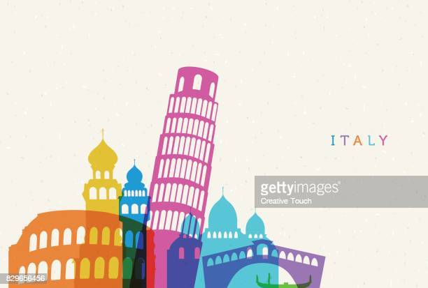illustrazioni stock, clip art, cartoni animati e icone di tendenza di italy - ita