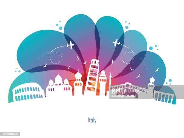 italy-drop - milan stock illustrations, clip art, cartoons, & icons