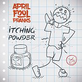 Itching Powder Prank for April Fools' Day Doodle