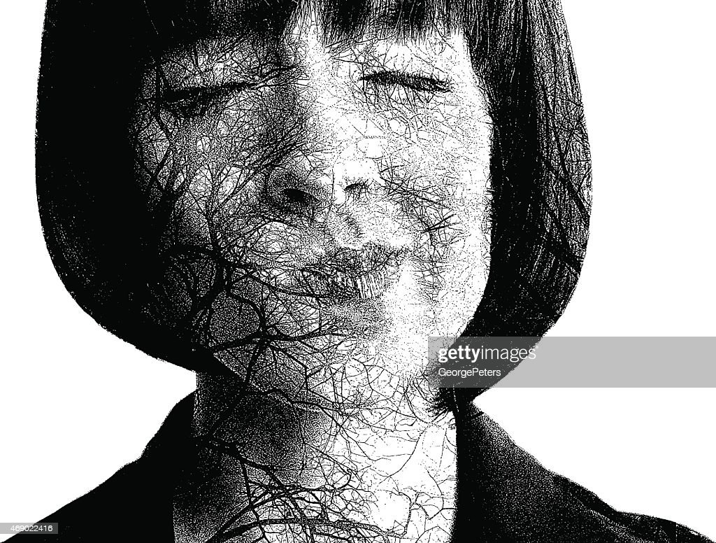 Itchy Nose. Allergies and Tree Pollen : stock illustration